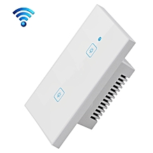 WS-US-02 EWeLink APP & Touch Control 2A 2 Gangs 2 Ways Tempered Glass Panel Smart Wall Switch, AC 90V-250V, US Plug