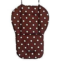 Washable Soft Stroller Carseat Padding Pram Baby Pushchair Dots Printing Liner Chair Pad- Coffee