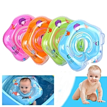 Baby Neck Safety Swimming Ring Float Pool (Orange)