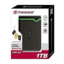 External Hard Drive - USB 3.0/3.1 - 1TB - Grey&Green