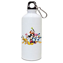 Mickey mouse club house cartoons branded aluminum water bottle -  minimum order is 1 bottle
