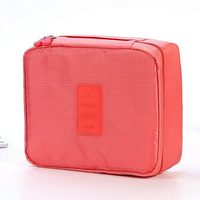 52a1e138c0af Zipper Man Women Makeup Bag Nylon Cosmetic Bag Beauty Case Make Up  Organizer Toiletry Bag Kits Storage Travel Wash Pouch(Watermelon Red)