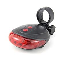DE - 116 LED 3-lamp Laser Bike Red Tail Light - Black