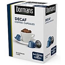 Decaf Coffee Capsules - 125g - 25 Capsules