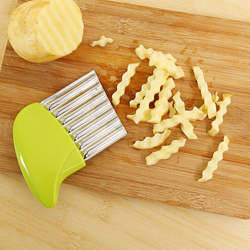 buy generic crinkle cut potato chip cutter with wavy blade french
