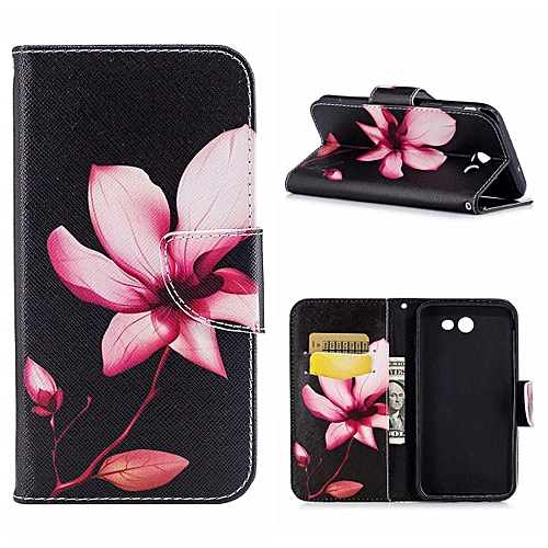 low cost ebb9a 753b7 MSK Case Cover For Samsung Galaxy J7 Wear-resistant Canvas Wallet Leather  With Stylish Pattern Design-Ass 337569 (Color:Main Picture)
