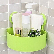 Elegant Bathroom Rack Organizer Shower Shelf Suction Cup - Green