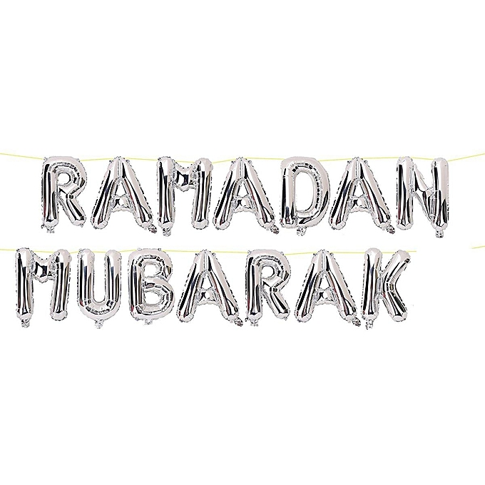 Generic 16 Ramadan Mubarak Balloon Banner Foil Letter Muslim