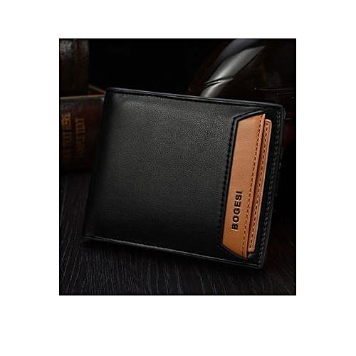 Generic Bogesi New Fashion Genuine PU Leather Wallet Male Bag Brand Men Wallets Handbag Purse Black Horizontal @ Best Price   Jumia Kenya