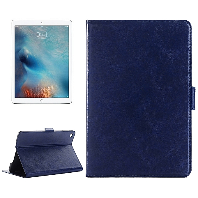 Crazy Horse Texture Horizontal Flip Leather Case with Holder   Card Slots    Wallet for iPad b79f635ae