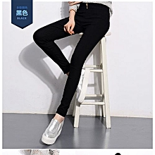 New Style Plus Size High Waisted Trousers Autumn Winter Skinny Pants Sexy Female Trousers Elastic Pencil Pants Elastic Waist Pants