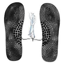 """9.6"""" Foot Relief Massage Rubber Pads Stimulator Insoles Relax With 1.2m Wire"""
