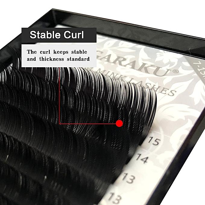 1b7b5cf22eb ... NAGARAKU 6 cases set 7~15mm MIX 16rows/tray mink eyelash extension  natural eyelashes ...