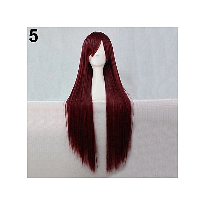 Buy Sanwood Women Fashion Long Anime Wigs Cosplay Party Wigs Full
