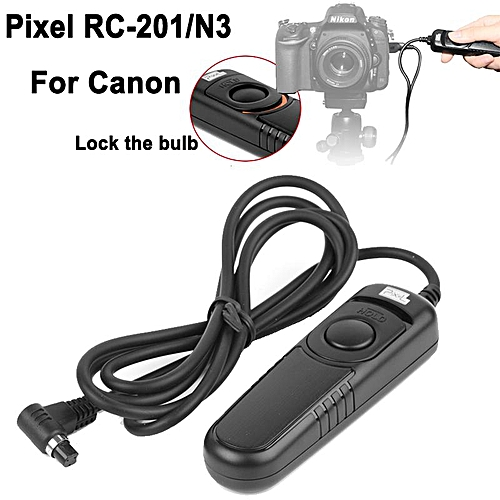 Pixel RC-201/N3 wired shutter release remote control with N3 cable  compatible with :EOS 1D SERIES 5D SERIES 6D SERIES 7D SERIES 50D 40D 30D  20D 10D