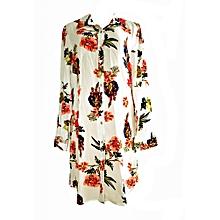 Off - White Jumbo Floral Shirt Dress