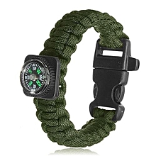 550 Paracord Survival Bracelet Wrist Band Cord Compass Whistle Camping Hiking