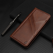 Splicing Horizontal Flip PU Leather Case for iPhone X / XS, with Holder & Card Slots & Wallet & Photo Frame(Dark Brown)