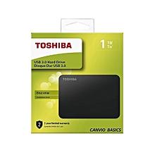 HDTB410EK3AA 1TB Canvio Basics 2.5-Inch USB 3.0 Portable External Hard Drive - Black