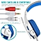Gaming Headset with HD Mic and LED Light for PS4 X Box Laptop Computer, Cellphone, PS4  and others  3.5mm Wired Noise Isolation Gaming Headphones - Volume Control.(White and Blue)