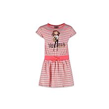 Pink Fashionable Striped Dress