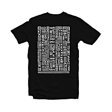 Tribal Print - Black Cotton T-shirt