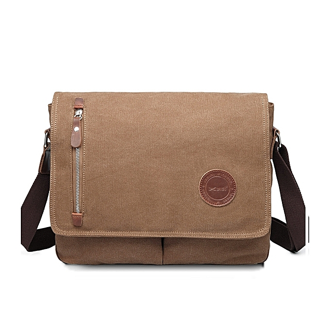 8b8600a128e0 Fashion Men Canvas Shoulder Bag Casual Messenger Bag Retro Laptop ...