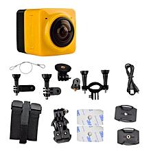 New Portable WIFI HD 1080p Sport Action Camera 360 Degree Panorama Camera Mini HD Panoramic Video 3D VR Camera JY-M