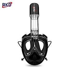 2nd Generation One-piece Gasbag Snorkeling Mask-Black
