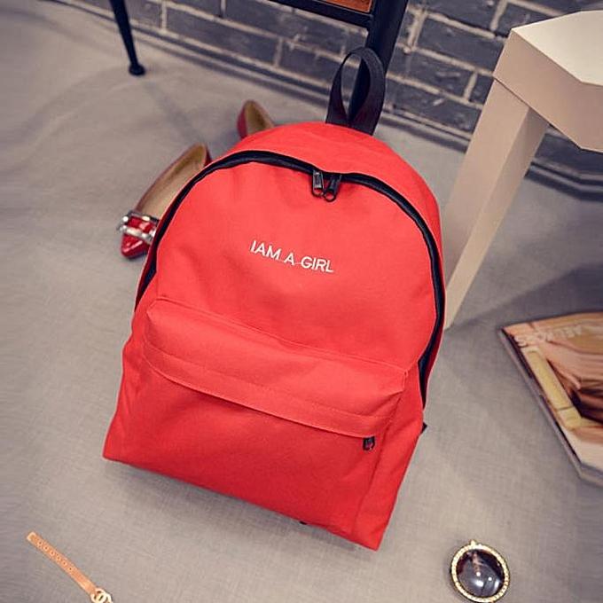 Unisex Boys Girls Canvas Rucksack Backpack School Book Shoulder Bag RD 27f8ac899a