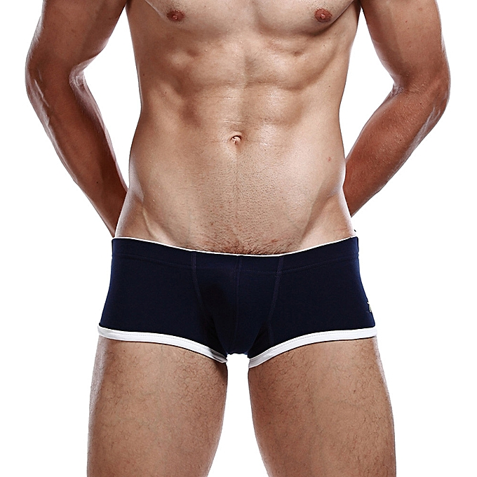2b37dabdf83 whiskyky store Men s Brand Sexy Cotton Breathable Solid Color Bulge Boxer  Underpants Underwear