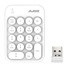 AJazz AK18 2.4GHz Wireless Numeric Keypad Mini Number Pad Keyboard for Laptop PC