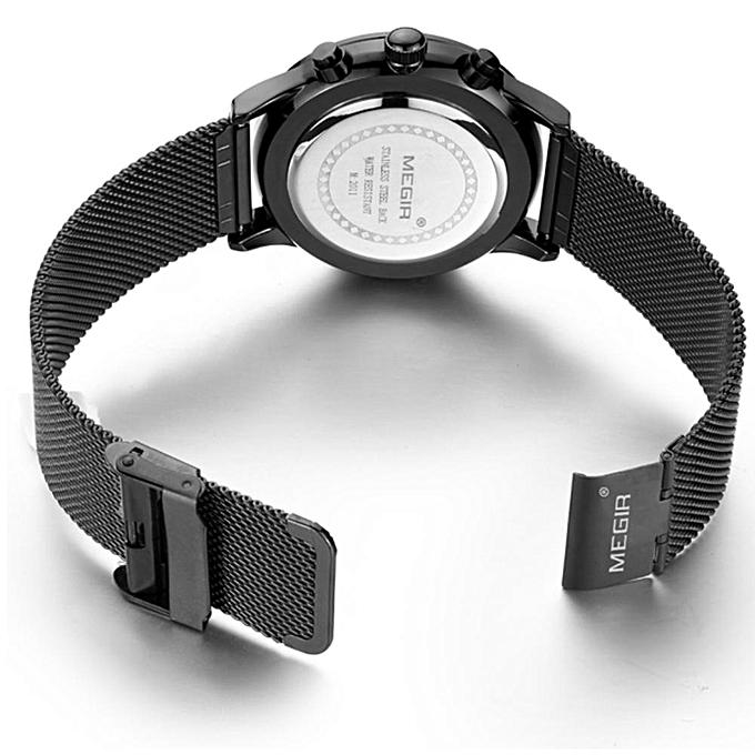318ac540262 ... MEGIR Watch Men Stainless Steel Quartz Men Watches Chronograph Watch  Clock Men for Male Students Relogios ...