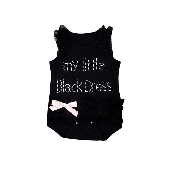 1e999ba16 Fashion Braveayong Newborn Baby Girls Embroidered Lace Little Black ...