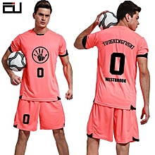 Customized Youth Boy And Adult Men's Football Soccer Sport Jersey-Orange(QD-1625)