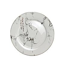 Home-Creative Design Marbled Ceramic Tableware Plate Dish Kitchen Dinnerware marbled white