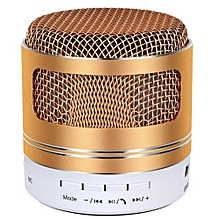 Bluetooth Portable Speaker, Wireless, Super Bass Stereo For PC, Tablet & Smartphone - Gold