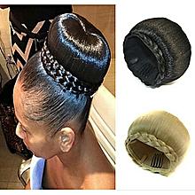 High quality Donut Hair Bun Hair Extension Black+ FREE gift Inside!!!