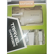 Smart Phone Charger for Infinix Sartphones - White