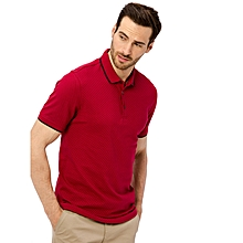 Red Printed Fashionable Skinny Short Sleeve T-Shirt