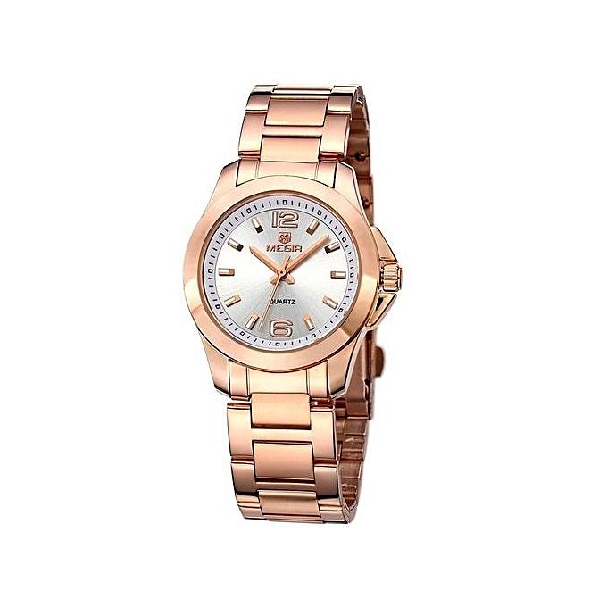 c5a9967d614 Megir Women Watches Luxury Brand Stainless Steel Gold Watch Women Quartz-Watch  Female Clock Women