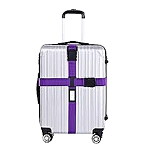 Adjustable Travel Luggage Suitcase Cross Straps Baggage Tie Belts Password Lock-Purple