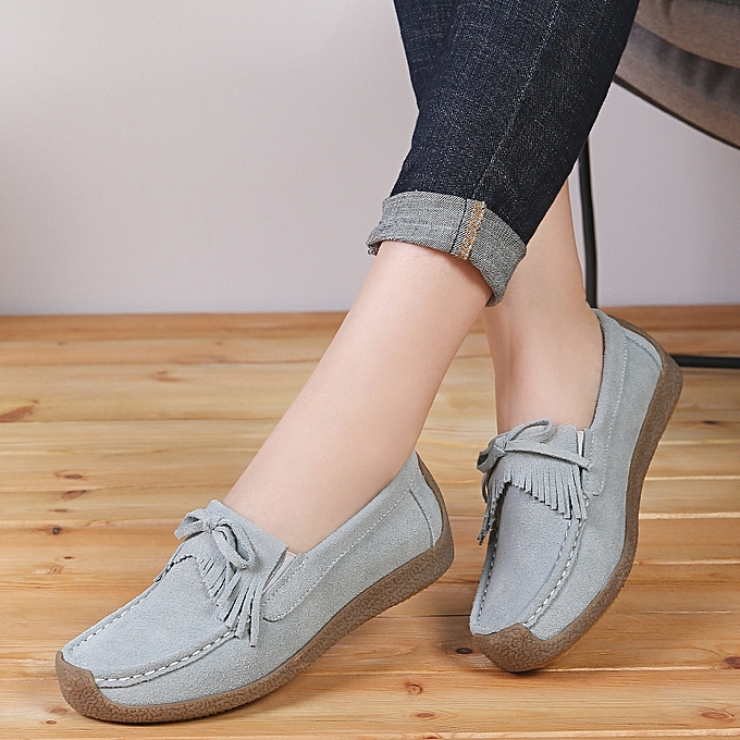 8ae490e1912 ... EUR 35-41 Women Shoes Genuine Suede Leather Ballet Flats Shoes Woman  Loafers Ladies Shoes ...