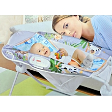 Deluxe new born rocker and sleeper with vibrations-multicolor
