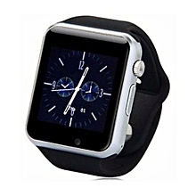 "A1 - 1.54"" - 0.3MP Camera - Smart Watch Phone - Silver"