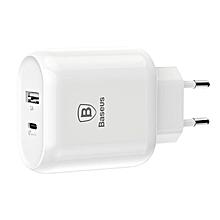 Baseus 5V 3A Type C PD Quick Charge USB Travel Charger EU Plug