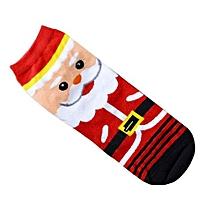 Orangesky 3D Cartoon Christmas Socks Women Cotton Socks Floor