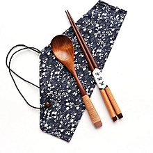Wooden Cutlery Set Travel Utensils Set Eco Friendly Reusable Flatware Set Khaki