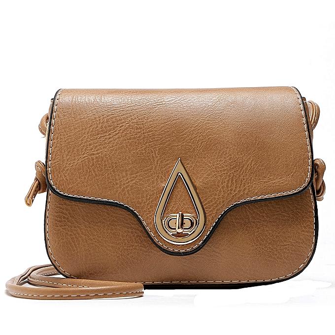 Womens Leather Purse Satchel Cross Body Shoulder Bag Messenger Bag -Khaki 4398f2c43a148