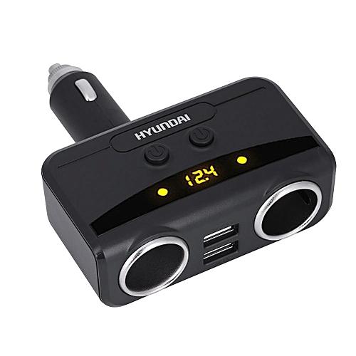 Generic Justgogo 12V-24V 2 Way Car Electronic Lighter Power Socket Splitter Adapter 2.1/1A Dual USB Charger Black @ Best Price   Jumia Kenya